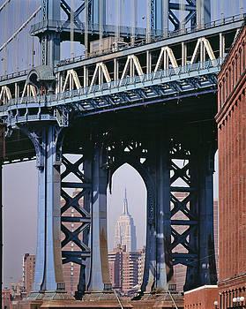 Daniel Furon - Manhattan Bridge Frames the Empire State Building