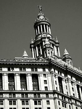 Manhattan Municipal Building Tower by Liza Dey
