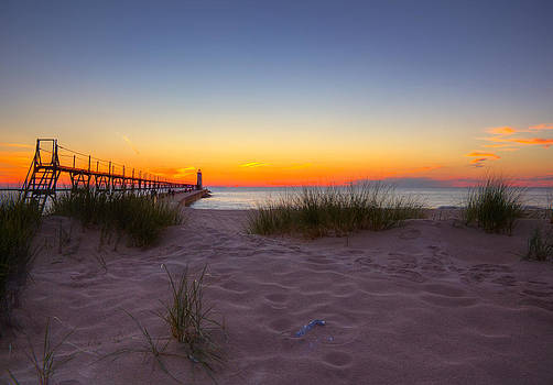 Manistee at Sunset by Megan Noble