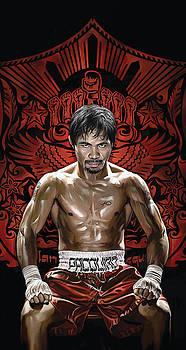 Manny Pacquiao Artwork 1 by Sheraz A