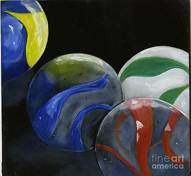 Marbles Still Life by Sheryl Heatherly Hawkins