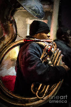Kathleen K Parker - Mardi Gras Tuba Player _ NOLA Night