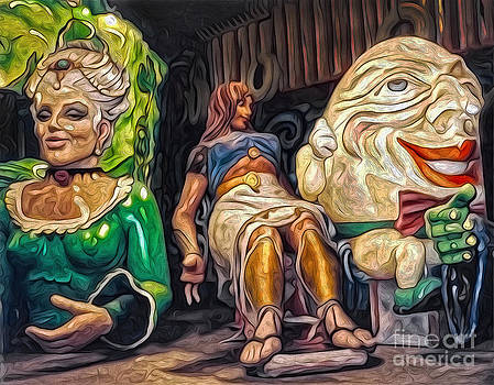 Gregory Dyer - Mardi Gras World - Humpty Dumpty and Showgirls