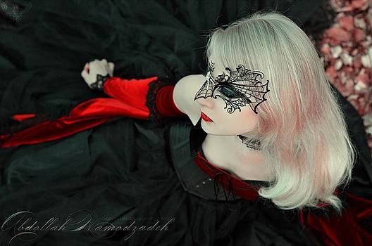 Maria Amanda - Red Nostalgia - by A.H.K  by Abdollah Hamodzadeh