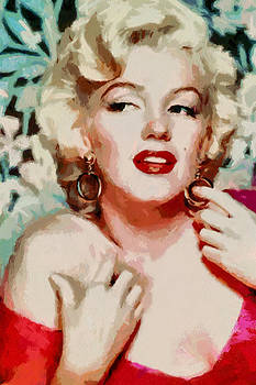 Marilyn Monroe in red dress by Georgi Dimitrov