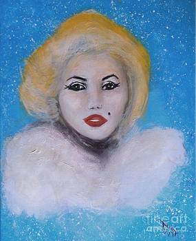 Marilyn Monroe Out of the Blue Into the White by Donna Dixon