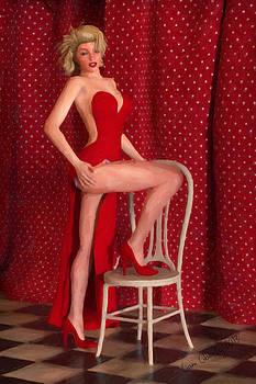 Liam Liberty - Marilyn Monroe Wearing a Red Dress