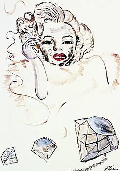 Angela Pari  Dominic Chumroo - Marilyn Monroe with Diamonds Are a Girls Best friend