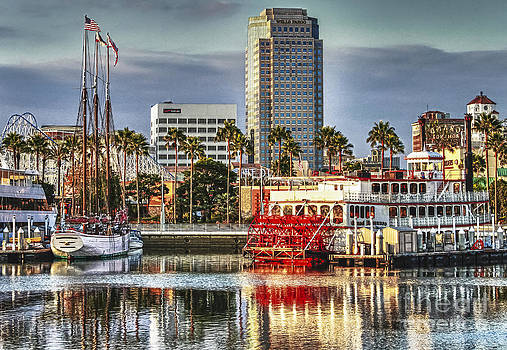 Marina Before Sunset by Pam Vick