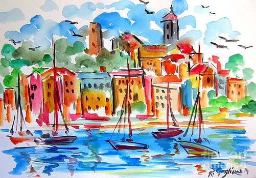 Marina Watercolor by Roberto Gagliardi