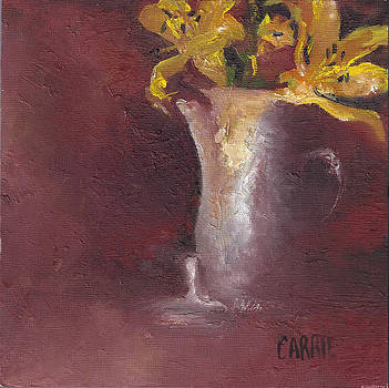 Maroon and Lilies by Carrie Williams