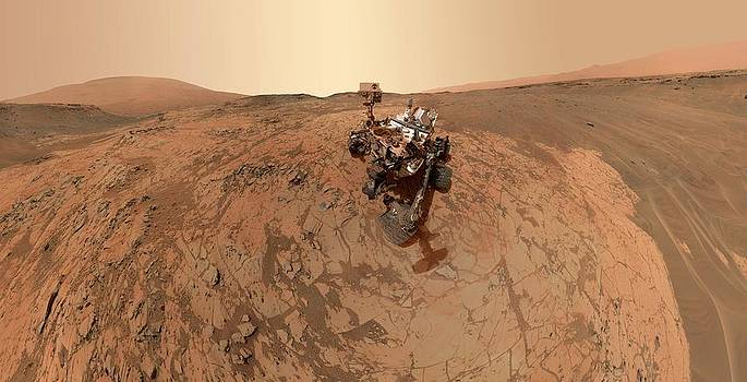 Mars Curiosity Rover Self-portrait by Nasa/jpl-caltech/msss