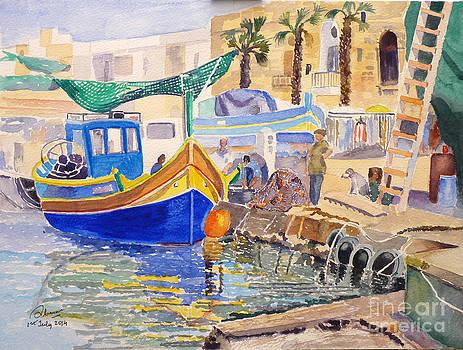 Marsaxlokk fishing village by Godwin Cassar