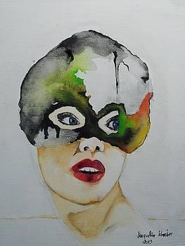 Masc On Canvas by Jacqueline Schreiber