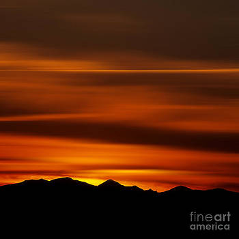 BERNARD JAUBERT - Massif of Sancy at sunset