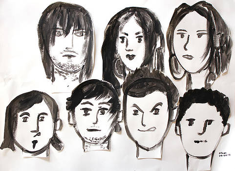 Matisse inspired faces by Ethan Altshuler