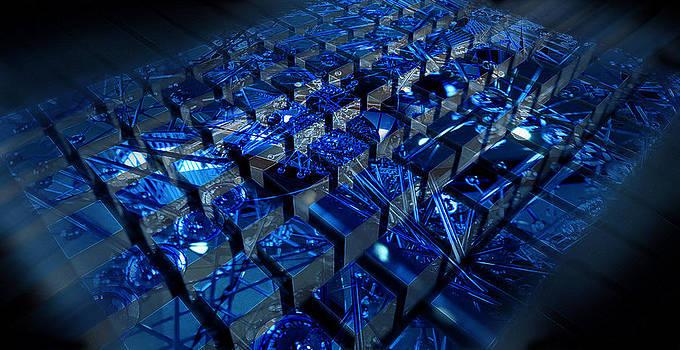 Matrix Blue by Florin Birjoveanu