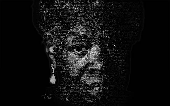 Maya Angelou by Justo Terez Jr