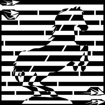 Maze of 746 watts 1 horsepower maze  by Yonatan Frimer Maze Artist