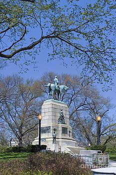 David  Zanzinger - Mc Pherson Square Statue Washington DC
