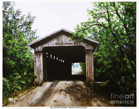 McCafferty Covered Bridge Brown County Ohio by Rita Miller