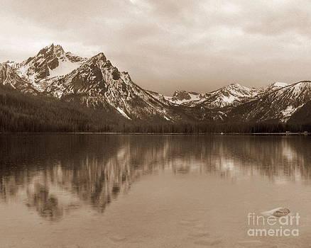 McGowan Peak at Stanley Lake Idaho by Steve Patton