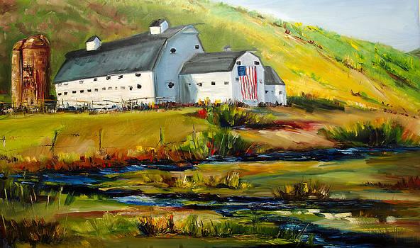 McPolin Park City Utah Barn by Diane Whitehead