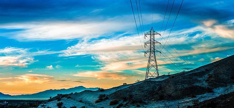 Mecca Electric Poles by Janice Sullivan