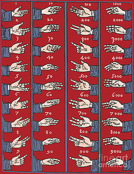 Science Source - Medieval Dactylonomy Finger Counting