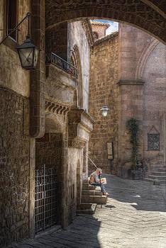 Medieval Street by Leonardo Marangi