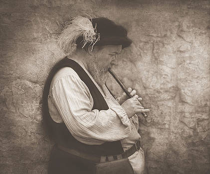 Medieval Flute Player by Pat Abbott