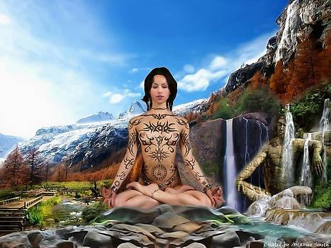 Meditation Girl by Arcanico Luca Smith Acquaviva