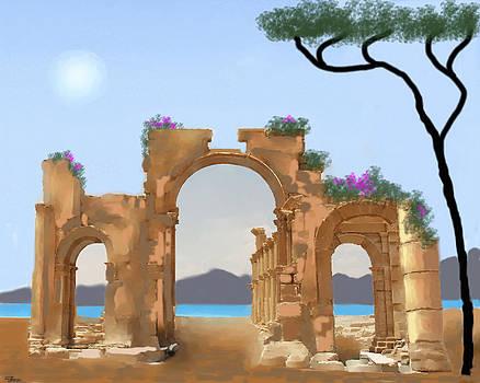 Mediterranean Ruins by Larry Cirigliano
