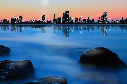 Mediterranean Skyline by Faye Giblin