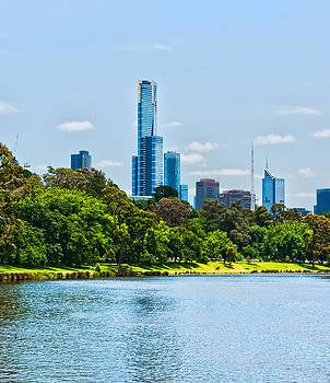 Melbourne on the Yarra River by Patrick OConnell