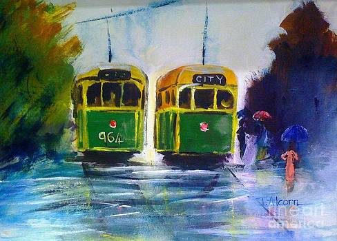 Melbourne Trams by Therese Alcorn