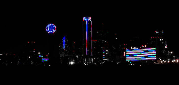 Memorial Day '14- Downtown Dallas Skyline 2 by Christen Weber