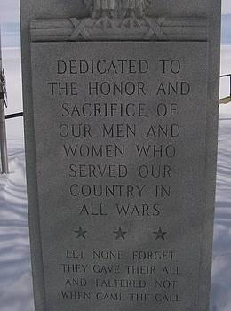 Menominee Memorial by Jonathon Hansen