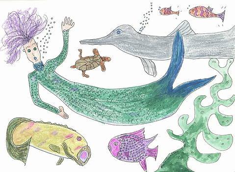 Mermaid Hello by Helen Holden-Gladsky