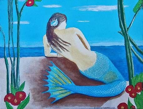 Mermaid In Repose by Gordon Wendling