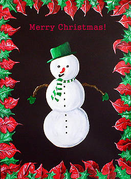Merry Christmas Snowman by Sandy Wager