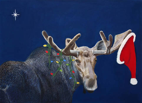 Merry Christmoose by Laurie Cartwright