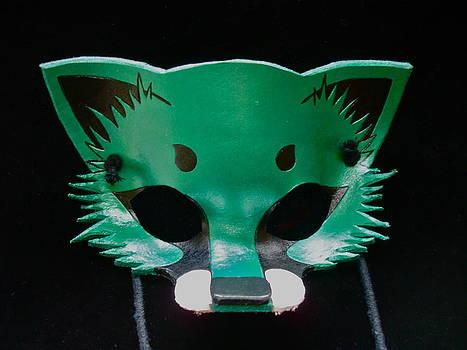Metallic Green Fox by Fibi Bell
