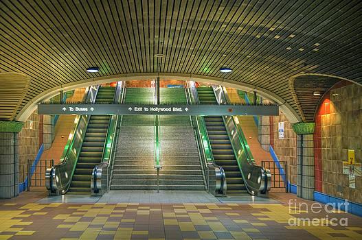 David Zanzinger - Metro Subway Station Escalators Hollywood CA