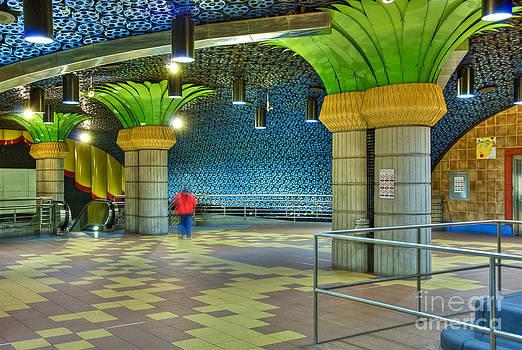 David Zanzinger - Metro Subway Station Interior Hollywood CA