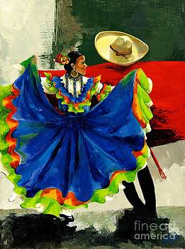Mexican Dancers by Elisabeta Hermann
