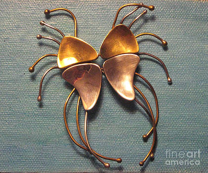 Mexico Jewelry Puzzle Dali Long Legged Butterfly by Lois Picasso