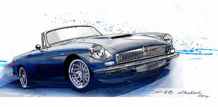MGB Roadster by Fred Otene