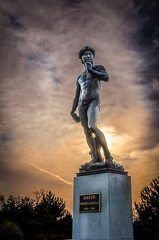 Michelangelo's David at Sunset by Anthony Morganti
