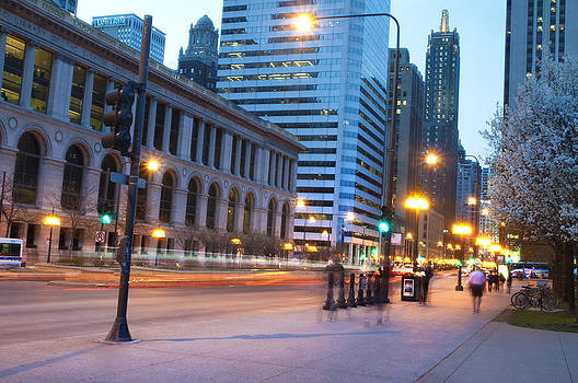 Michigan Ave Dusk by Kamila  Gornia